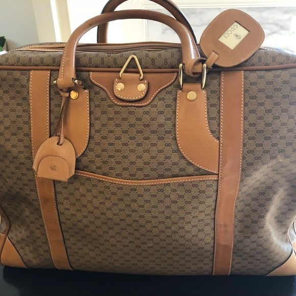db642fbe3fd Gucci Other - Authentic Vintage Gucci Monogram Garment Suitcase